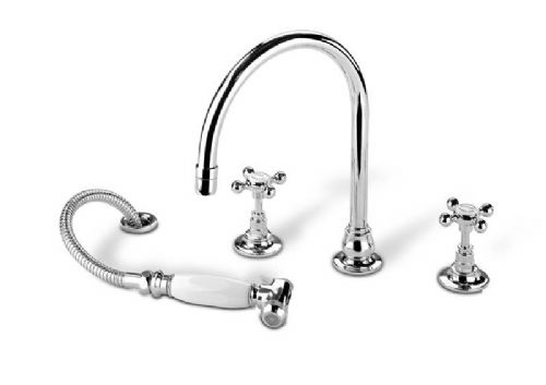 Barber Wilson 1040 sink mixer with flexible hose spray
